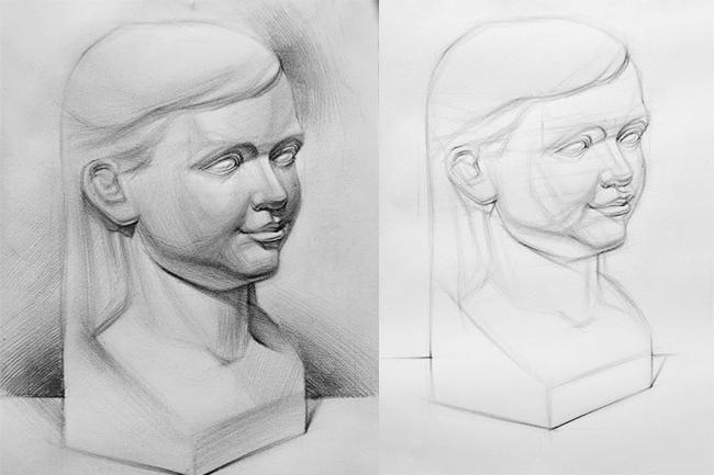 vẽ tượng thi khối v